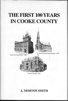 The First 100 Years in Cooke County  $25.00 + tax