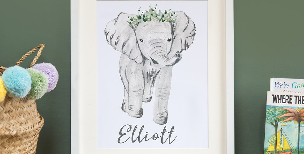 Elephant with leafy crown