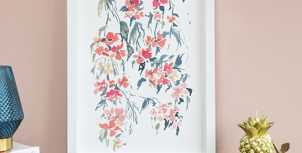 Inky Trailing Floral