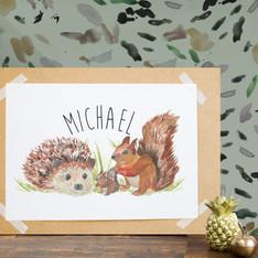 Michael's Bespoke Nursery Print