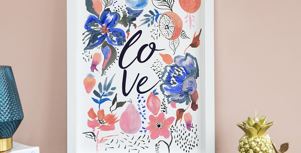 Fruit & Floral Love Print