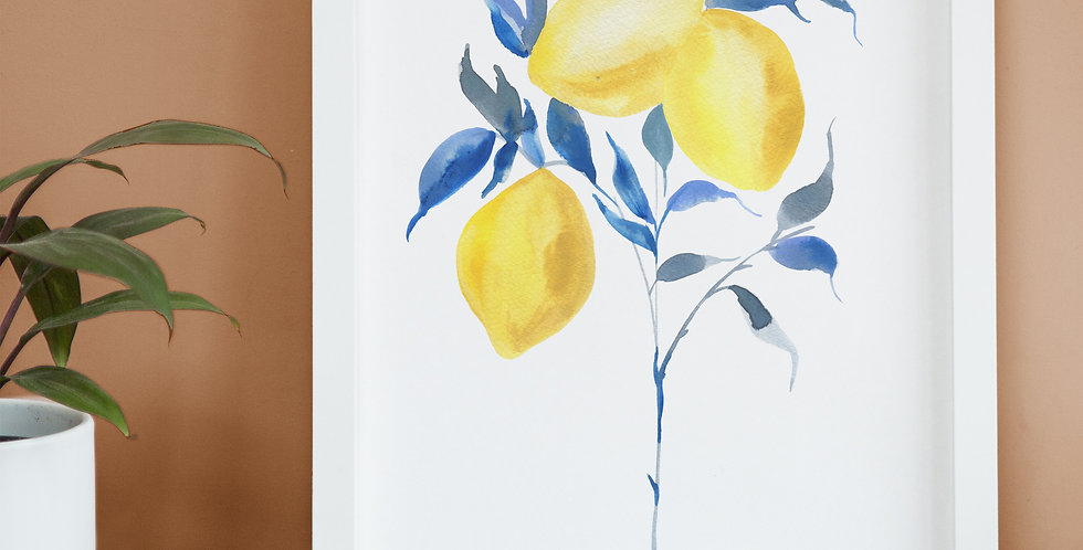 Watercolour Lemons Illustration
