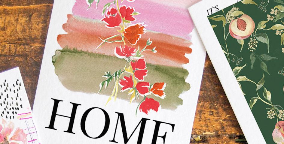 Watercolour Home - Postcard