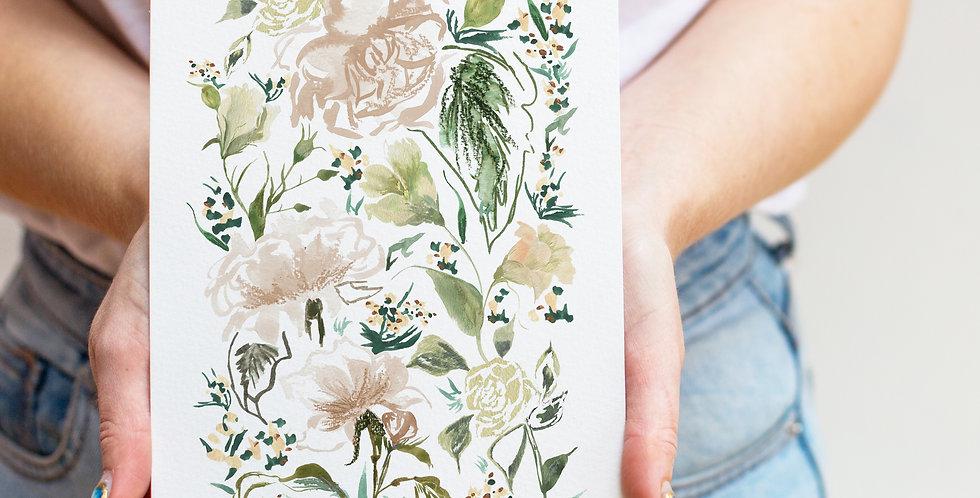 Roses- June Birth Flower Print & Name