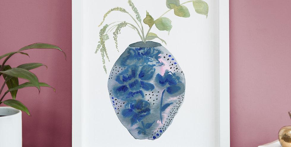 Calm Vase print