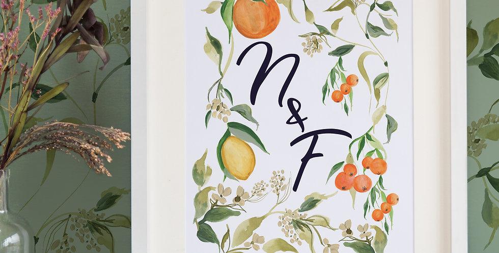 Oranges + Lemons - Initial Print