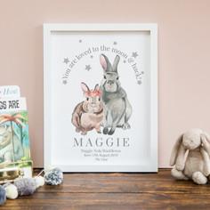 Mummy + Baby bunny print