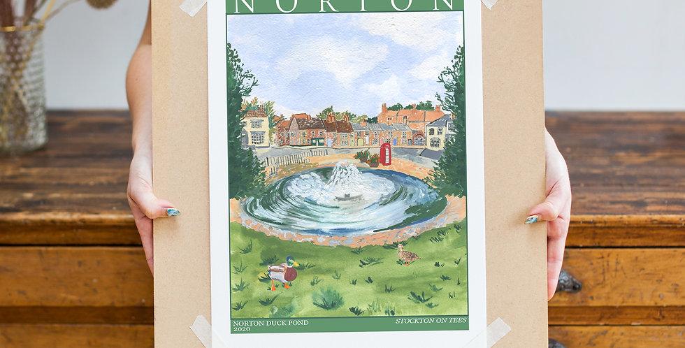 Vintage Poster Inspired Print - Norton