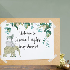 Baby shower welcome sign.