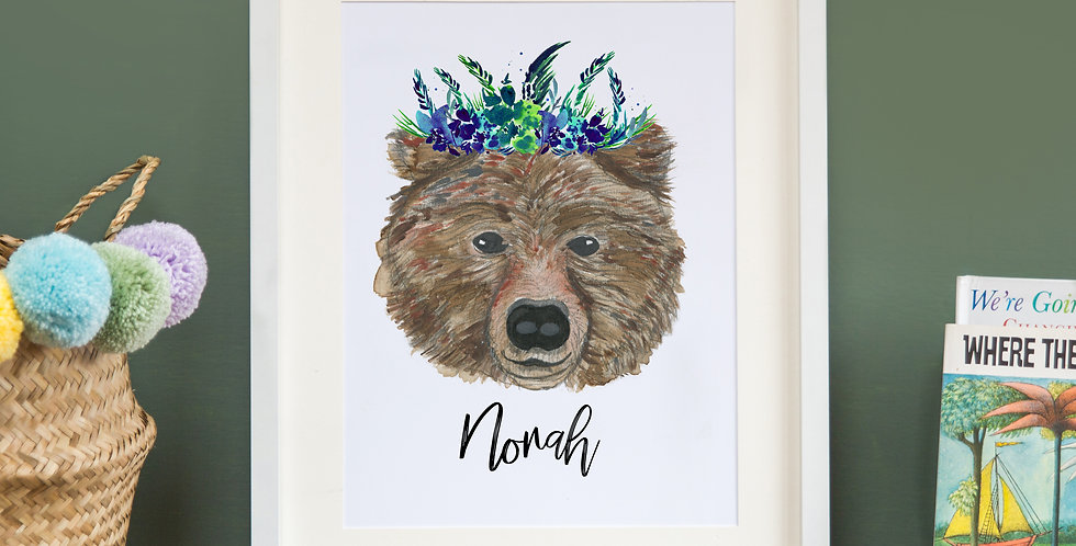 Leafy Crowned not so grizzly Bear