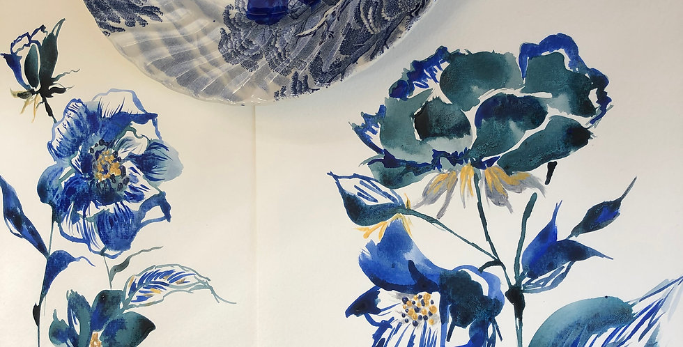 Painting Seasonal Flowers with Indigo Ink - Tue 13th July- 6:00pm - 8:00pm