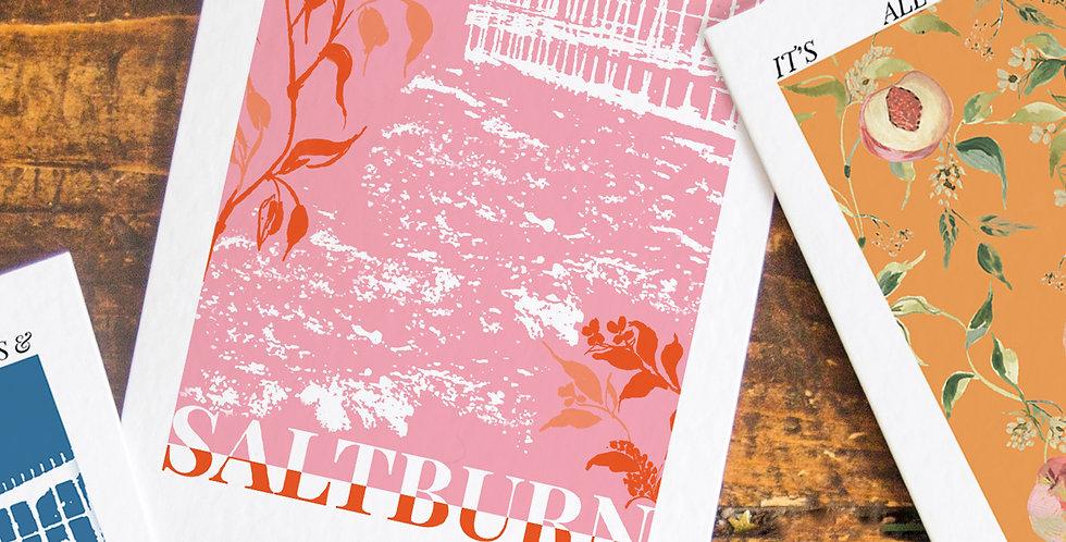 Saltburn- Pink Base - Postcard