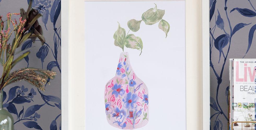 'Happiness' Vase Print