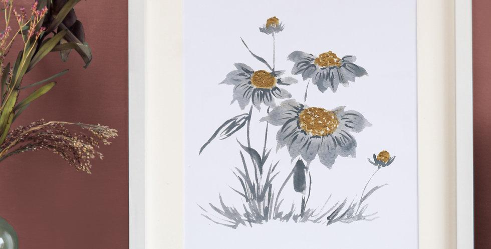Watercolour Daisies illustration