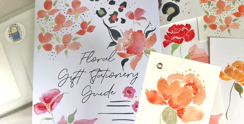 Floral Gift Stationery Kit + Video Tutorial