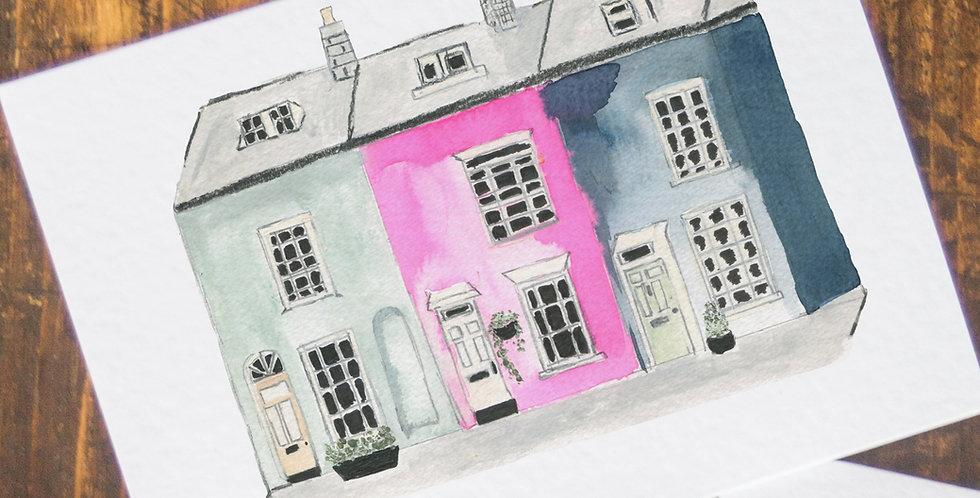 Terraced House Postcard
