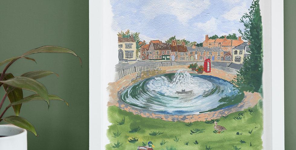 Norton Duck Pond Illustration