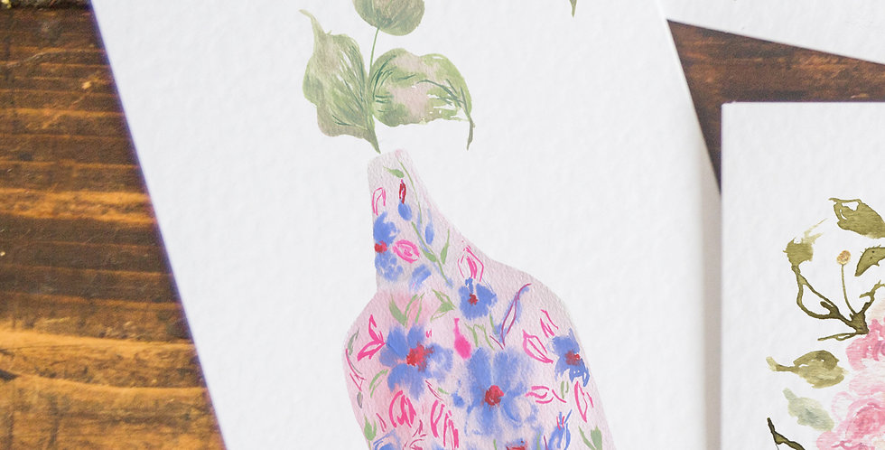 The Happiness Vase - Postcard