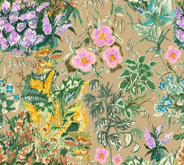 113.Flower Garden- Final Repeat-Khaki Base-200.jpg