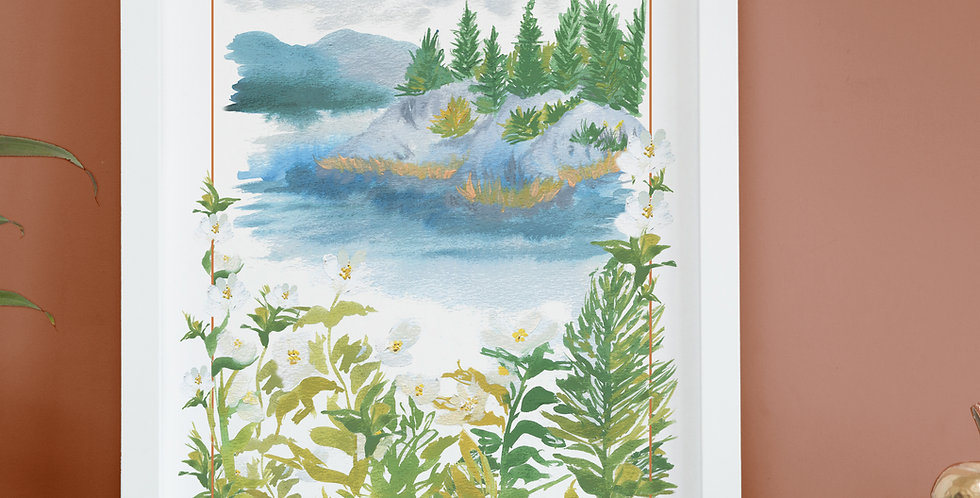 Lake Windermere - Vintage poster inspired print