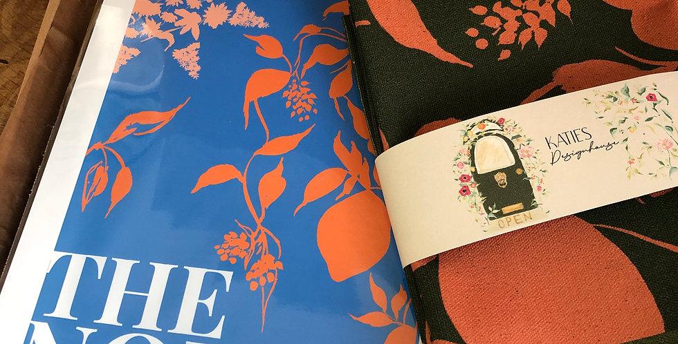 The North - Khaki Tea Towel + Blue Print Gift Set