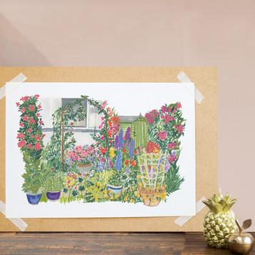 Garden Potrait for Grandad