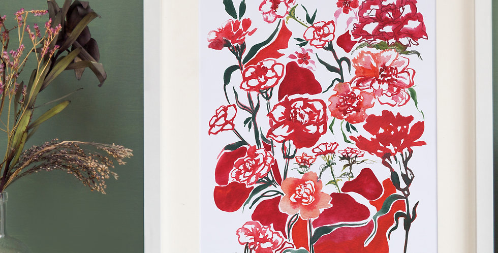 Carnations Fine Art Floral