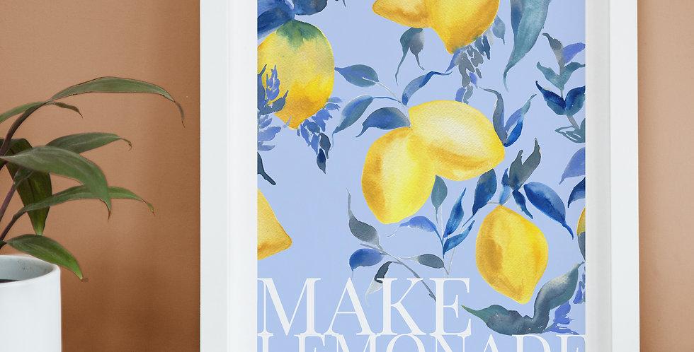Make Lemonade Poster Style Print