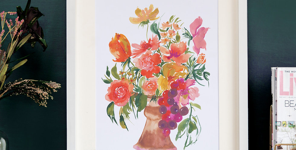 'Summer Time' Vase Print