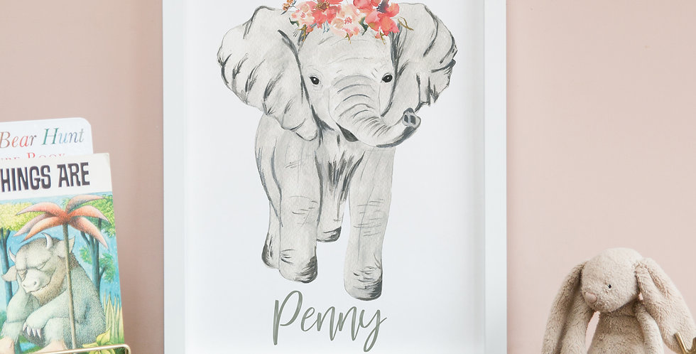 Floral Crowned Elephant