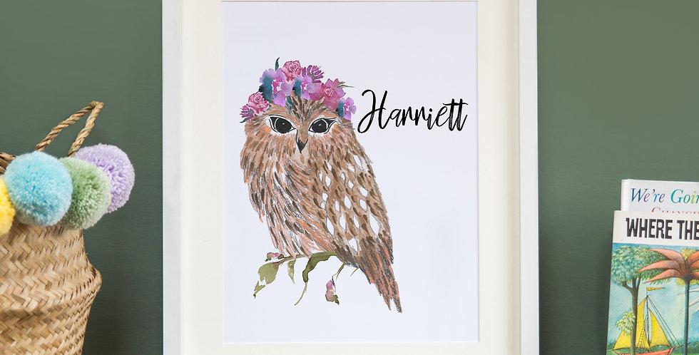 Flower Crown Owl