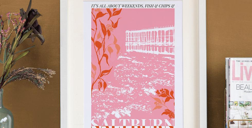Saltburn Print - Pink