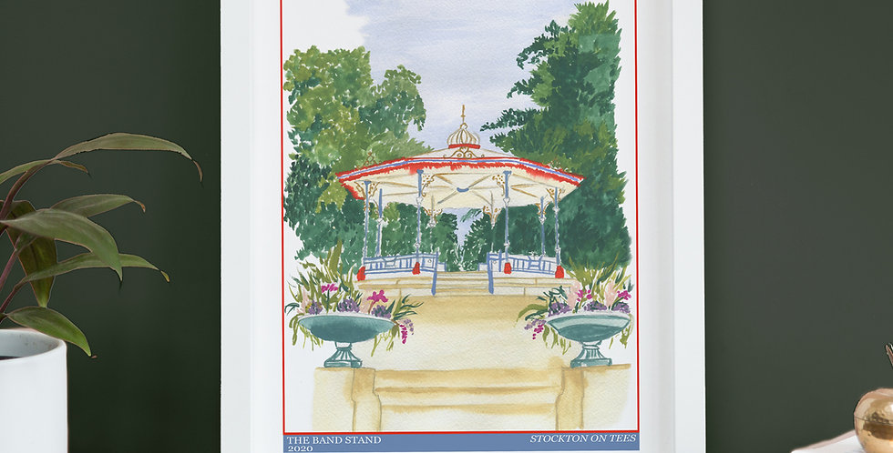 Vintage Poster Inspired Print - Ropner Park