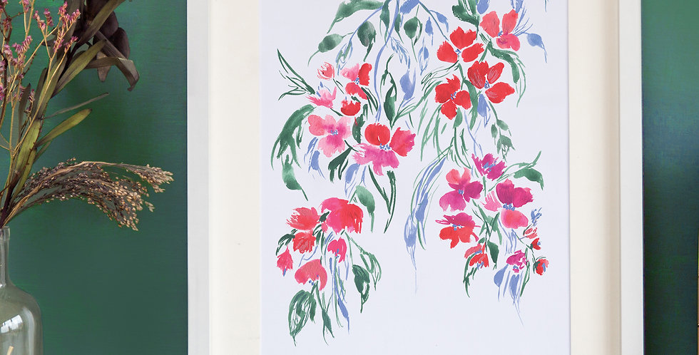 Vibrant Inky Trailing Floral