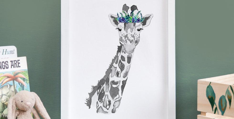 Leafy Crown Grey Giraffe