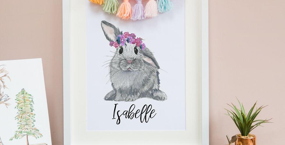 Flower Crown Bunny
