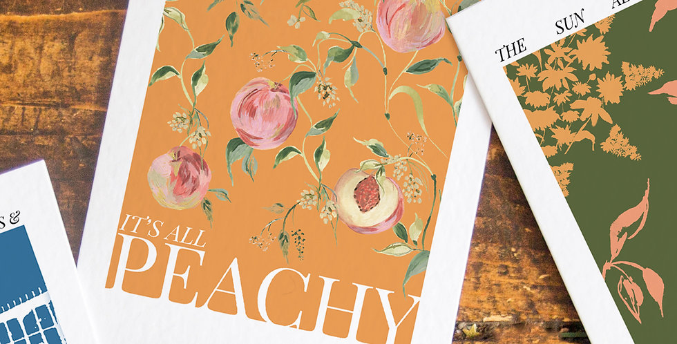 Orange Base It's all Peachy - Postcard