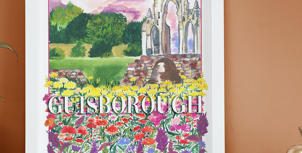Vintage Poster Inspired Print - Guisborough Priory