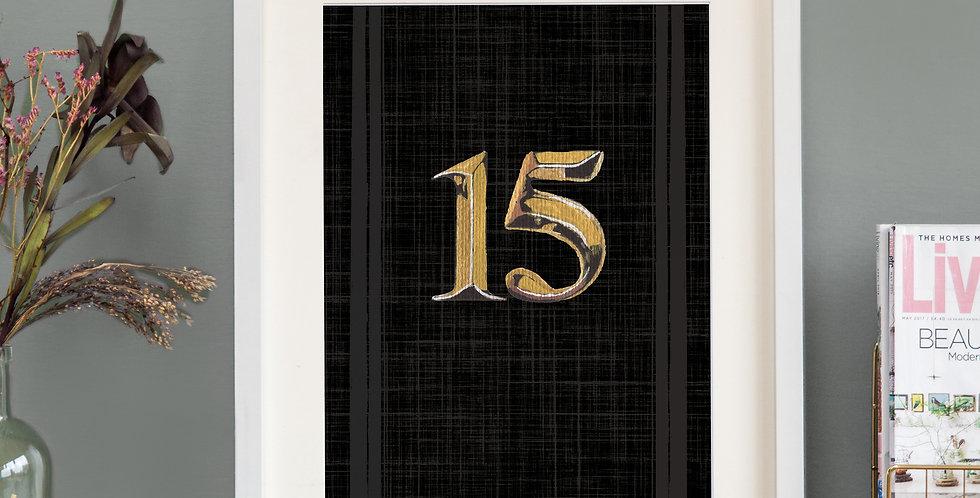 Front Door Print - Black - Just Numbers