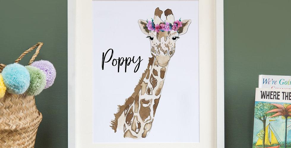 Floral Crowned Giraffe