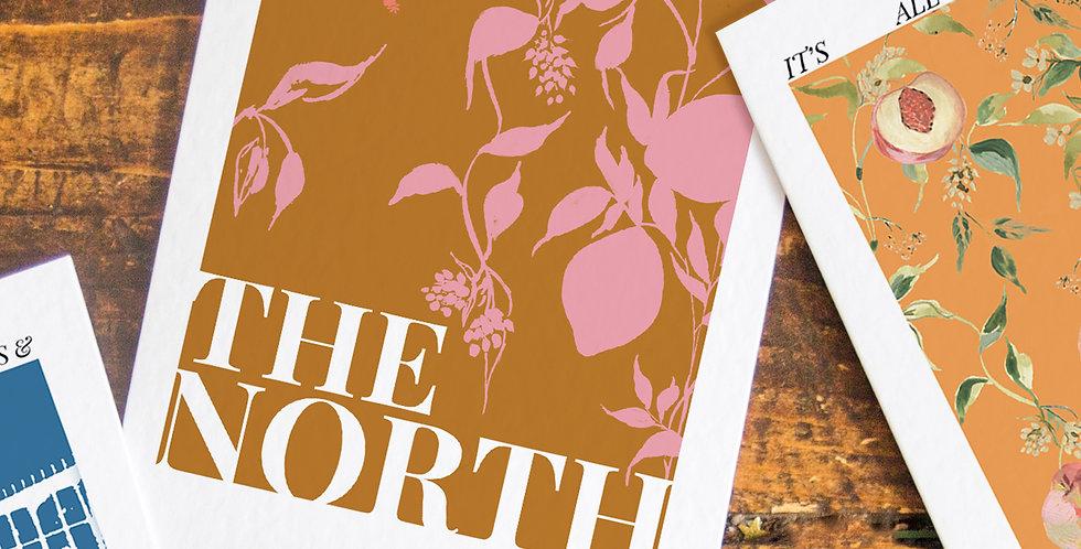 The North - Burn Orange Base -  Postcard