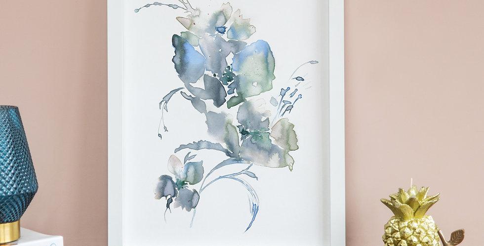 Abstract Tonal Blue Arrangement