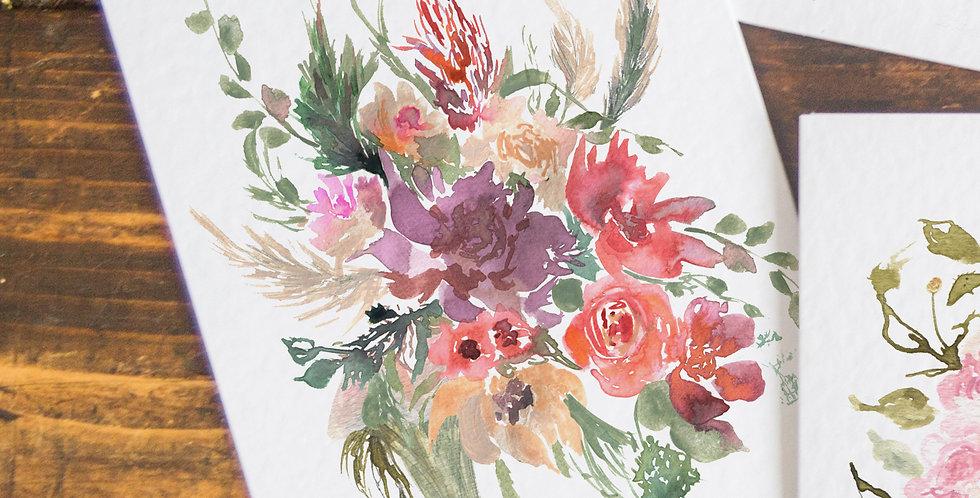 The Julie - wild grasses bouquet