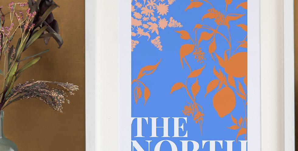 The North Print - Cornflower Blue
