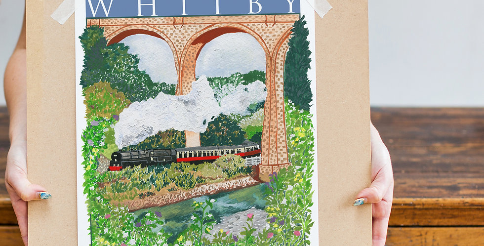 Poster Inspired Print - Train to Whitby