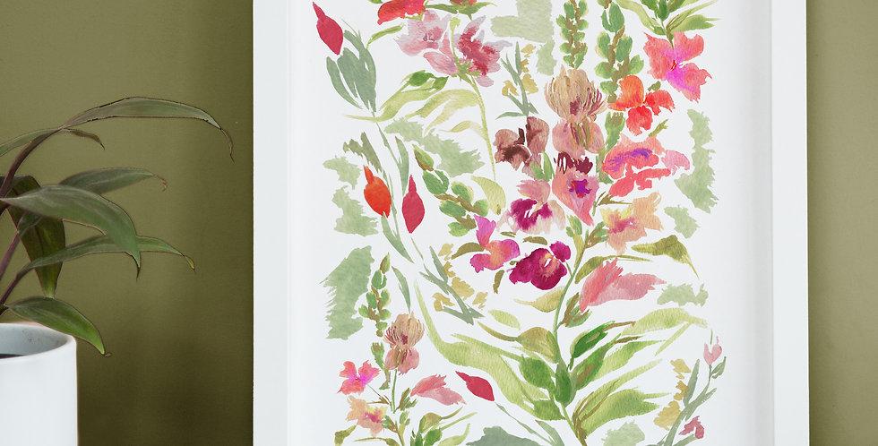 Personalised July Birth Flower Print