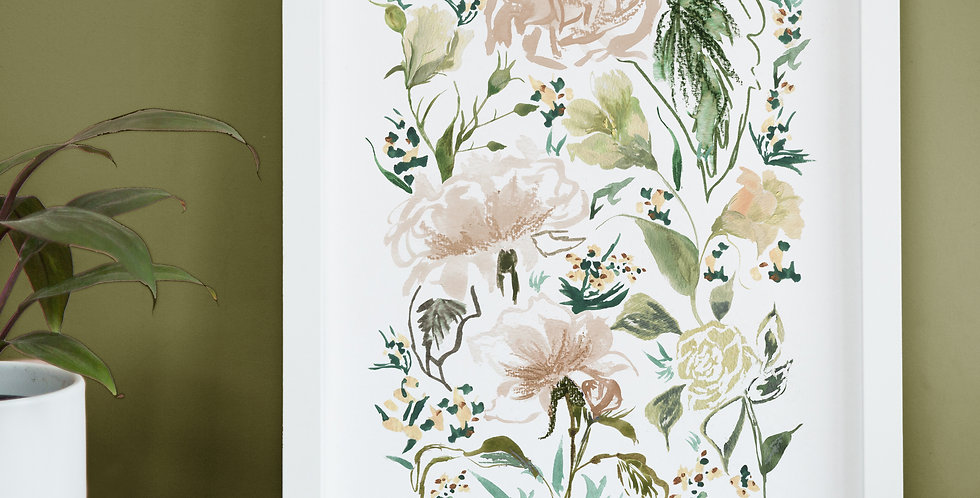 Stop and smell the Roses - June Birth Flower Print