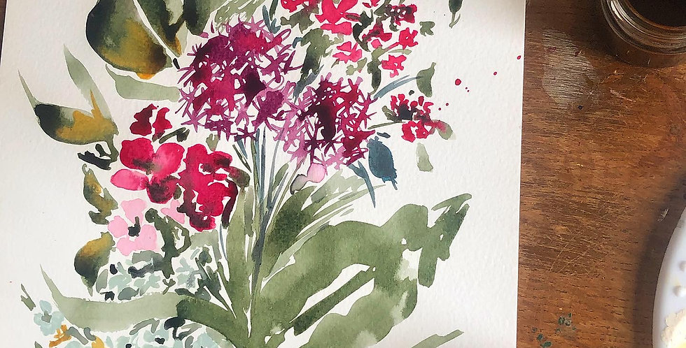 An Introduction to inks - Aliums & Wild Flowers - Sat 26th June, 9:45-11:45