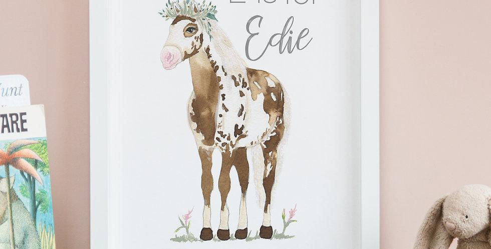 Pony with Leafy Flower Crown