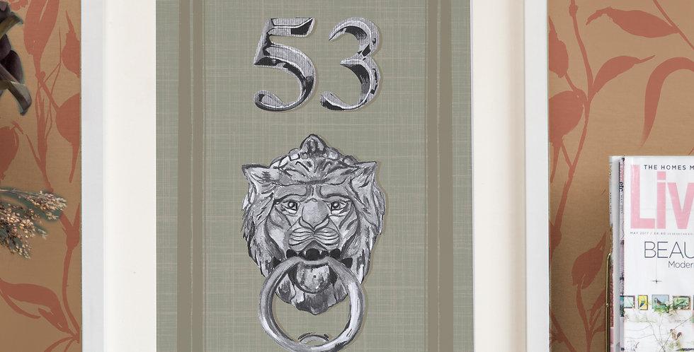 Front Door Print - Sage - Mock Silver Acessories